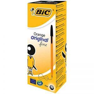 BIC Orange Original Stylos-Bille Pointe Fine - Noir, Boîte de 20 de la marque BIC image 0 produit