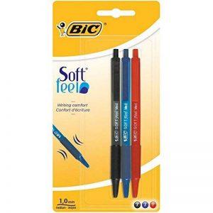 BIC Softfeel Stylos-Bille - Couleurs Assorties, Blister de 3 de la marque BIC image 0 produit