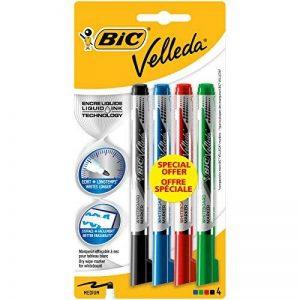 BIC Velleda Pocket Feutres Effaçables à Sec - Couleurs Assorties, Blister de 4 de la marque BIC image 0 produit
