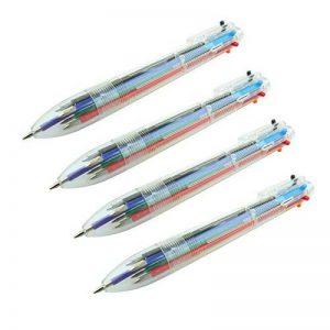 Bid Buy Direct® stylos à bille rétractable 6couleurs–Lot de 4stylos. Mélange Unique de très faible viscosité encres et optimisé d'écriture Conseils pour une Netteté, des lignes Épurées et une Fluidité Inégalée. de la marque Bid Buy Direct® image 0 produit