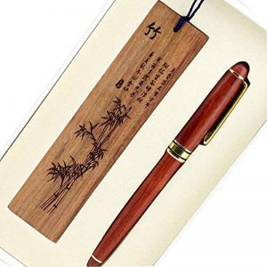Bois Motif Bambou sculpté écriture en bois Rollerball Pen Artistique de la marque Blancho image 0 produit