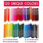 Boîte de 120 crayons de couleur Zenacolor - 120 couleurs uniques (aucune en double) - Les meilleurs crayons pour enfants, adultes et artistes. Idéal pour tous les types de coloriage de la marque Zenacolor image 1 produit