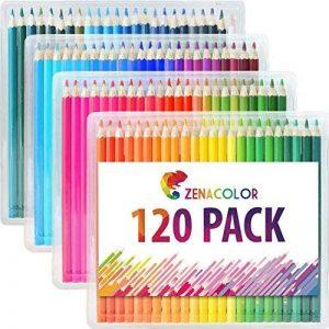 Boîte de 120 crayons de couleur Zenacolor - 120 couleurs uniques (aucune en double) - Les meilleurs crayons pour enfants, adultes et artistes. Idéal pour tous les types de coloriage de la marque Zenacolor image 0 produit