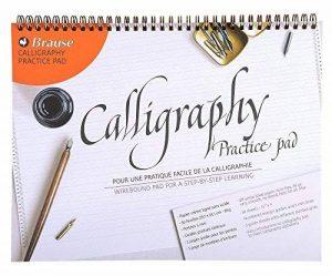 Brause 96450B Bloc de calligraphie d'apprentissage A4 - français/anglais, 29.70 x 23.10 x 0.70 cm, Crème de la marque Brause image 0 produit