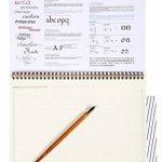 Brause 96450B Bloc de calligraphie d'apprentissage A4 - français/anglais, 29.70 x 23.10 x 0.70 cm, Crème de la marque Brause image 1 produit