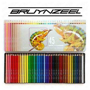 Bruynzeel–45Crayons de couleur dans une boîte en métal Motif caméléon en de la marque BRUYNZEEL image 0 produit