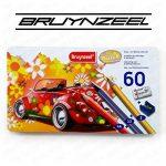 Bruynzeel Super Sixties–60Ensemble de crayons de couleur en boîte cadeau en métal–Y Compris 12crayons métallique de la marque BRUYNZEEL image 1 produit