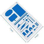 Bullet Journal Pochoirs 20pièces en plastique 10,2x 17,8cm Planning Pochoirs Journal/portable/agenda/Scrapbooking DIY Pochoir de gabarit de dessin de la marque CASE E-Craft image 2 produit