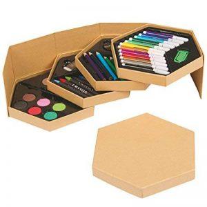 Caisse avec 52matériaux de dessin et Art. Set complet pour à dessin et coloriage. Cadeau idéal pour enfants: Noël, rois mages, anniversaire. de la marque B2ACTION image 0 produit
