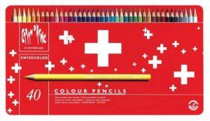 Caran d'Ache Crayons de couleur Swisscolor dans boîte en métal (Lot de 40) de la marque Caran d'Ache image 0 produit