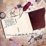 Carnet de Note en Cuir | Journal de Voyage en Cuir Authentique, Journal intime, Bullet Journal | Parfait pour Dessin, l'écriture, Scrapbooking, Cadeau pour Homme ou Femme, Voyageurs | Pages Blanches 19 x 14 cm de la marque Wanderings image 2 produit