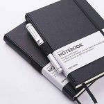 Carnet Ligné/Ruled Notebook - Journal à Couverture Rigide avec Poche Pour écrire en + Diviseurs de Page Cadeaux, Bagués, Grand, Papier épais 125g/m², Noir, 5.75 * 8.5inch de la marque image 1 produit