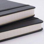 Carnet Ligné/Ruled Notebook - Journal à Couverture Rigide avec Poche Pour écrire en + Diviseurs de Page Cadeaux, Bagués, Grand, Papier épais 125g/m², Noir, 5.75 * 8.5inch de la marque Lemome image 2 produit