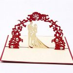 Carte 3D Amour Papier Spiritz Carte Pop up Mariage Carte 3D Love Wedding Anniversary Paper Carte Anniversaire de Carte du Nouvel an Chinois Cartes Femme de la marque Paper Spiritz image 2 produit