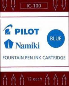 Cartouches d'encre PILOT/NAMIKI, boite de 12, encre bleue de la marque Pilot image 0 produit