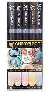 Chameleon Art Products - Marqueurs Chameleon Pens, 5 marqueurs à base d'alcool; Tons Pastels de la marque Chameleon Art Products image 0 produit