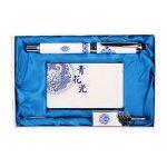 Chinese Style Bleu Artistique et Blanc Porcelaine Rollerball Pen Set de la marque Blancho image 1 produit