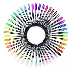 Ciaoed Lot de 48 Multicolores Stylos Billes à Encre Gel Pailleté pour Dessin Déco Scrapbooking Peinture de la marque Ciaoed image 0 produit