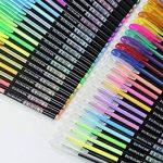 Ciaoed Lot de 48 Multicolores Stylos Billes à Encre Gel Pailleté pour Dessin Déco Scrapbooking Peinture de la marque Ciaoed image 2 produit