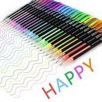 Ciaoed Lot de 48 Multicolores Stylos Billes à Encre Gel Pailleté pour Dessin Déco Scrapbooking Peinture de la marque Ciaoed image 3 produit