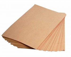 Clairefontaine 375001C - Une Rame de papier KRAFT BRUN VERGE 21X29,7 cm 25 Feuilles 120 g de la marque Clairefontaine image 0 produit
