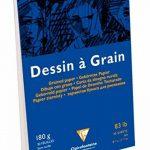 Clairefontaine 96624C Dessin à Grain bloc collé 30F 21x29,7cm 180g à grain Blanc de la marque Clairefontaine image 1 produit
