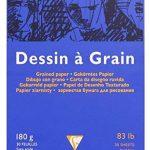 Clairefontaine 96624C Dessin à Grain bloc collé 30F 21x29,7cm 180g à grain Blanc de la marque Clairefontaine image 2 produit