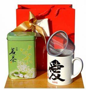 Coffret cadeau–Tasse à thé Love de calligraphie Tamis et chinois Thé Vert 50g de la marque Gifts Of The Orient image 0 produit