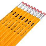 Colore # 2 Crayons avec des gommes à effacer - Haute Qualité en graphite HB / No 2 Crayon en bois jaune - Équipement important pour l'école d'Art, pour l'écriture, le dessin et l'esquisse avec caoutchouc - Convient aux enfants et aux adultes - 144 pièces. image 1 produit