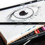Colore Premium Art Lot - 50 crayons Assortis Lot de crayons pour pages de coloriage et livres - colorées, aquarelle, dessin, Charbon de bois et crayons de couleur métallique pour les étudiants, les en de la marque Colore image 3 produit