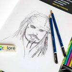 Colore Premium Art Lot - 50 crayons Assortis Lot de crayons pour pages de coloriage et livres - colorées, aquarelle, dessin, Charbon de bois et crayons de couleur métallique pour les étudiants, les en de la marque Colore image 2 produit