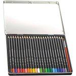 Conté Crayons de Couleur Aquarellables - Boite Métallique de 24 + 1 Pinceau de la marque Conte image 1 produit
