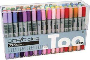 Copic Ciao Lot de 72 Marqueurs de dessin Assortiment A de la marque Copic Ciao image 0 produit