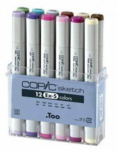 Copic Sketch Série EX-5 Pochette de 12 marqueurs (Import Royaume Uni) de la marque COPIC image 0 produit