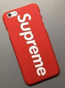 Coque Iphone 5 / 5s / SE: Supreme rouge (Livraison gratuite en France) de la marque Phone Tattoo image 0 produit