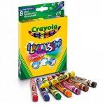 Crayola - 52-3282-e-000 - Crayons De Couleurs - La Cire Ultra Lavables - 8 Gros Pièces de la marque Crayola image 1 produit