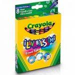 Crayola - 52-3282-e-000 - Crayons De Couleurs - La Cire Ultra Lavables - 8 Gros Pièces de la marque Crayola image 2 produit