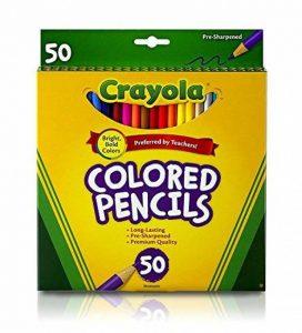 Crayola Crayons de couleur;; Art outils; de 50; Parfait pour projets artistiques et coloriage pour adultes de la marque Crayola image 0 produit