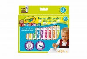 Crayola Mini Kids - Loisirs Créatifs - 12 feutres lavables - dès 1 an de la marque Crayola image 0 produit