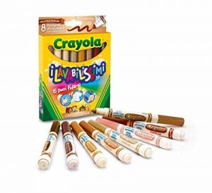 Crayola nbsp;–58–8336–I Lavabilissimi Lot de 8marqueurs lavables, grosse pointe, couleurs multiculturelles de la marque Crayola image 0 produit