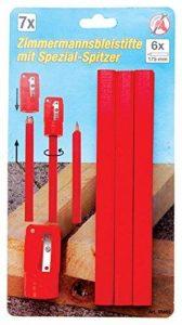 Crayons de charpentier avec taille-crayon, 7-pc. de la marque Kraftmann image 0 produit
