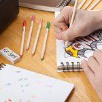 Crayons de couleur - Ensemble de crayons de couleur primes et pré-taillés pour le coloriage et le dessin- Gomme et taille-crayon GRATUIT- Excellent équipement pour le retour à l'école pour enfants et adultes- Livre de coloriage - 60 Couleurs de la marque image 3 produit