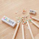 Crayons de couleur - Ensemble de crayons de couleur primes et pré-taillés pour le coloriage et le dessin- Gomme et taille-crayon GRATUIT- Excellent équipement pour le retour à l'école pour enfants et adultes- Livre de coloriage - 60 Couleurs de la marque image 1 produit