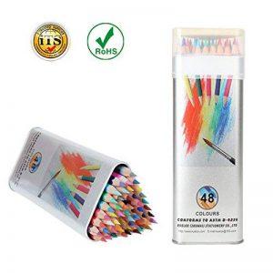 Crayons de Couleur Kasimir 48-Couleurs Coloré Crayons Professionnel de Haute Qualité Artiste Sketch Dessin Crayons Dessin Coloré Crayons de Coloriage Avec Trousse (étain) de la marque Kasimir image 0 produit