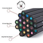 Crayons de couleur noire Widow ® pour adultes, le meilleur ensemble de crayons de couleur pour les livres de coloriage pour adultes, une trousse de dessin Blackwood de qualité 24 pièces disponible à utiliser dans vos livres. de la marque Black Widow Colle image 2 produit