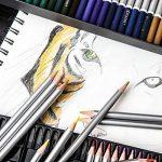 Crayons de couleurs Colore - 72 crayons de couleurs solubles dans l'eau pour étudiants et professionnels de l'art - Couleurs assorties avec le livre de coloriage et d'esquisse pour enfants et adultes - Stylo à brosse GRATUIT - ensemble de 72 couleurs de l image 4 produit