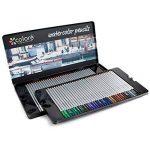 Crayons de couleurs Colore - 72 crayons de couleurs solubles dans l'eau pour étudiants et professionnels de l'art - Couleurs assorties avec le livre de coloriage et d'esquisse pour enfants et adultes - Stylo à brosse GRATUIT - ensemble de 72 couleurs de l image 1 produit