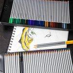 Crayons de couleurs Colore - 72 crayons de couleurs solubles dans l'eau pour étudiants et professionnels de l'art - Couleurs assorties avec le livre de coloriage et d'esquisse pour enfants et adultes - Stylo à brosse GRATUIT - ensemble de 72 couleurs de l image 2 produit