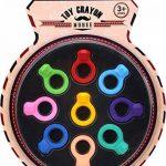 Crayons de doigt 2-en-1 pour les tout-petits, crayons de peinture pour les enfants, Crayons de bébé non-toxiques lavables et incassables, Crayons empilables de poignée de paume pour le jeu de groupe de la marque Mobee image 1 produit