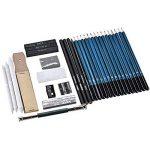 Crayons Dessin Professionnel Set de Crayons Fusain Materiel Gommes à Effacer et Aiguisoirs Sac Inclus Gomme Crayon de Charbon Graphite Outils pour Dessiner 36 PCS de la marque seebesteu image 2 produit